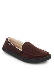 Isotoner Micro Suede Slippers Chocolate