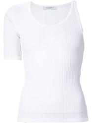 Viktor And Rolf Ribbed One Sleeve T Shirt