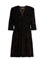 Vivienne Westwood Harima Tribal Devore Crepe Dress Black