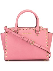 Michael Michael Kors Medium 'Selma' Satchel Pink And Purple