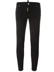 Dsquared2 'Medium Waist Cropped Twiggy' Jeans Black