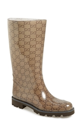 Gucci 'Edimburg Gg' Rain Boot Brown