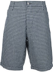 7 For All Mankind Checked Shorts Blue