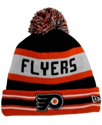New Era Philadelphia Flyers Jake Pom Knit Hat Black Orange
