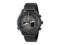 Citizen Jy8037 50E Eco Drive Navihawk A T Grey Ion Plated Stainless Steel Watches Black