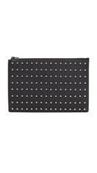 Alexander Wang Prisma Flat Pouch With Ball Studs Black