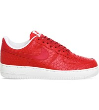 Nike Air Force 1 Lv8 Leather Trainers Action Red Reptile