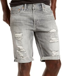 Levi's 511 Slim Fit Goodlands Grey Cutoff Ripped Jean Shorts