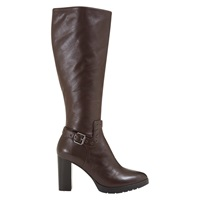 Mint Velvet Harriet Long Knee High Boots Chocolate Leather