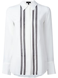 Theory Pleated Front Shirt White