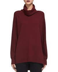 Whistles Cashmere Cowl Neck Sweater Burgundy