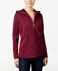 Karen Scott Quilted Hoodie Only At Macy's Bordeaux