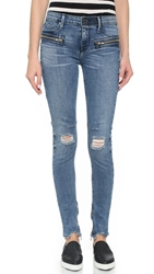 Rta Jagger Frayed Skinny Jeans Cosmic Blue