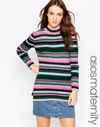 Asos Maternity Knitted Stripe Tunic Multi
