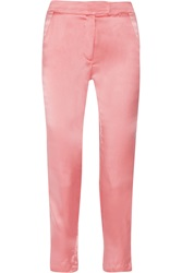 Kain Label Rory High Waisted Washed Silk Tapered Pants