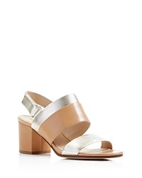 Via Spiga Jamilla Mid Heel Sandals 100 Bloomingdale's Exclusive Nude Gold