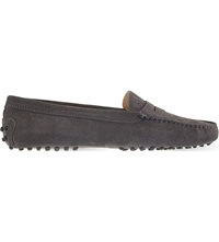Tod's Mocassino Suede Loafers Grey Mid