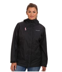 Columbia Plus Size Tested Tough In Pink Rain Jacket Ii Black Women's Coat
