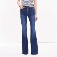 Madewell Flea Market Flare Jeans Button Front Edition