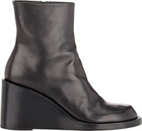 Ann Demeulemeester Wedge Heel Ankle Boots Black