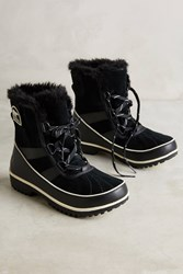 Anthropologie Sorel Tivoli Lace Up All Weather Boots Black