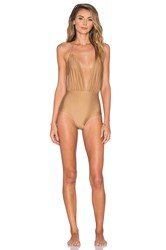 Motel Jagger One Piece Swimsuit Tan