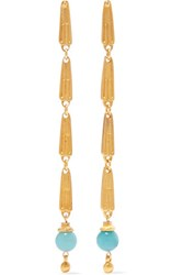 Ben Amun Gold Tone Bead Earrings
