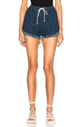 Chloe Chloe Acid Wash Denim Shorts In Blue