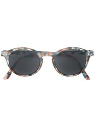 See Concept Tortoise Round Shaped Sunglasses Blue