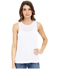 Blank Nyc Muscle Tee With Overlapping Racerback Detail White Women's Sleeveless