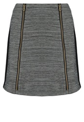 Naf Naf Emile Mini Skirt Dark Chine Mottled Grey