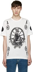 Dolce And Gabbana Ivory Ace T Shirt
