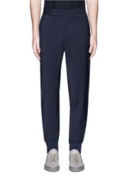 Paul Smith Relaxed Fit Wool Jogging Pants Blue