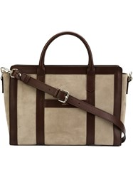 A.P.C. Panelled Tote Brown
