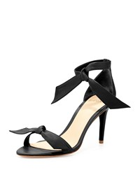 Alexandre Birman Leather Bow Tie D'orsay Sandal Black Women's