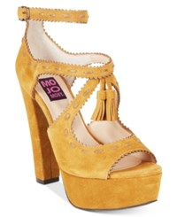 Mojo Moxy Creole Platform Tassled Dress Sandals Women's Shoes Camel