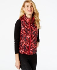 Inc International Concepts Reversible Puffer Vest Only At Macy's Regal Rose