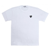 Black Play T Shirt White T Shirts Play Comme Des Garcons