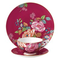 Wedgwood Tea Garden Tableware Set 3 Piece Raspberry