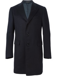 Corneliani Single Breasted Coat Blue