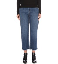Whistles Raw Hem Cropped Jeans Blue