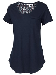Fat Face Madeley Berry Bud Tee Navy
