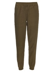 Nlst Utility Cotton Blend Track Pants Khaki