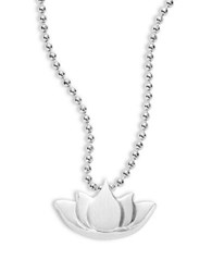 Alex Woo Little Faith And Symbols Lotus Necklace Silver