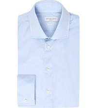 Richard James Contemporary Fit Cotton Shirt Sky