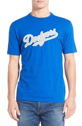 Men's Red Jacket 'Los Angeles Dodgers Twofold' Crewneck T Shirt