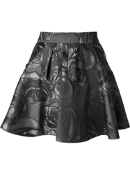 Viktor And Rolf Rose Print Skirt Grey