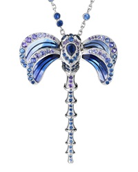 Dragonfly Pendant Necklace With Sapphire And Amethyst Lalique