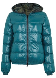 Duvetica Thiaerre Reversible Quilted Shell Jacket Blue