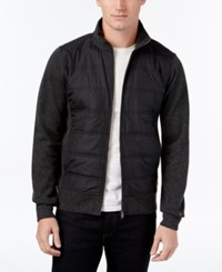 Tommy Hilfiger Men's Quilted Zip Front Jacket Charcoal Heather